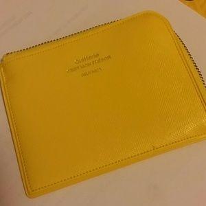 Yellow delfonics coin wallet